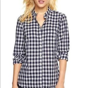 Gap gingham button down shirt XL